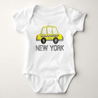 Body Para Bebé Coche a cuadros del taxi del taxi amarillo de New