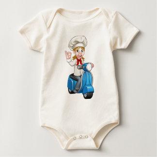 Body Para Bebé Cocinero de la hembra de la vespa de la entrega de