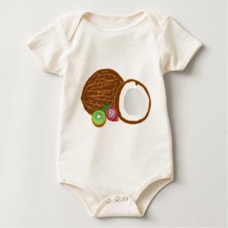Body Para Bebé Cocos tropicales del kiwi