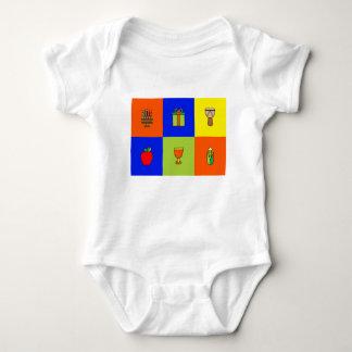 Body Para Bebé colorblock de Kwanzaa