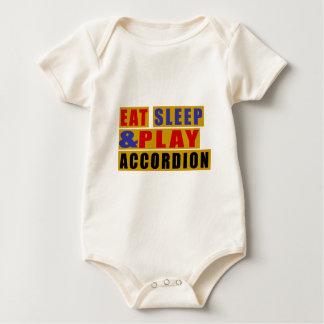 Body Para Bebé Coma el ACORDEÓN del sueño y del juego