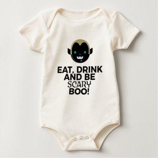 Body Para Bebé Coma el diseño asustadizo de Halloween del abucheo
