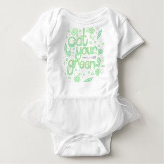 Body Para Bebé coma sus verdes
