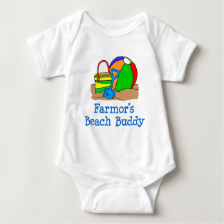 Body Para Bebé Compinche de la playa de Farmor