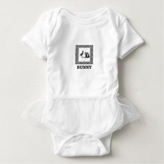 Body Para Bebé conejito blanco y negro
