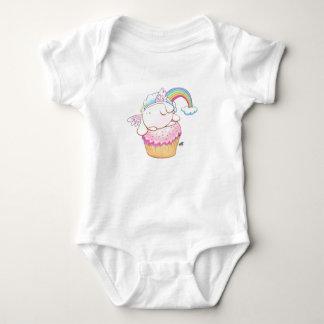 Body Para Bebé Conejito del ángel que monta un mono del bebé del
