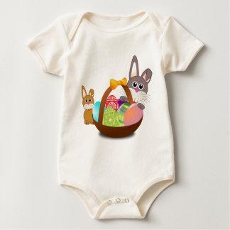 Body Para Bebé Conejito lindo para el día feliz de pascua