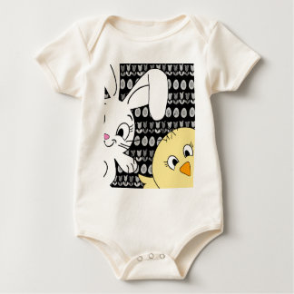 Body Para Bebé Conejito y polluelo de pascua