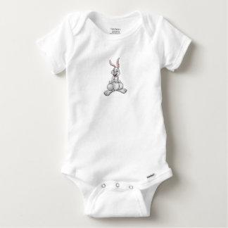 Body Para Bebé Conejo de conejito blanco del dibujo animado