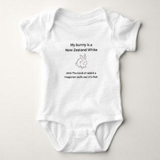 Body Para Bebé Conejo del blanco de Nueva Zelanda