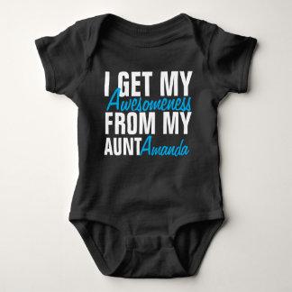 Body Para Bebé Consigo mi Awesomeness de mi tía (la tía Name)