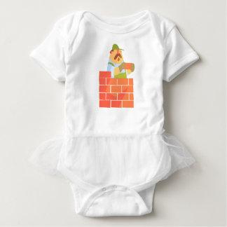 Body Para Bebé Constructor que pone una pared de ladrillo en