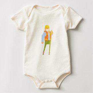 Body Para Bebé Constructor sonriente que muestra los pulgares