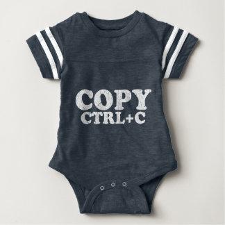 Body Para Bebé COPIE el Ctrl+C copia a gemelos de la goma