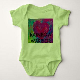 Body Para Bebé Corazón abstracto de Rainbow Warrior