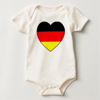 "Body Para Bebé ""corazón de Alemania"" Babybody Bio fútbol MUNDIAL"