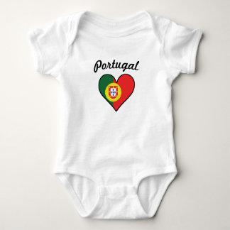 Body Para Bebé Corazón de la bandera de Portugal