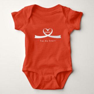 Body Para Bebé Corazón de la cinta