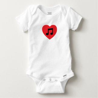 Body Para Bebé Corazón de la nota de la música