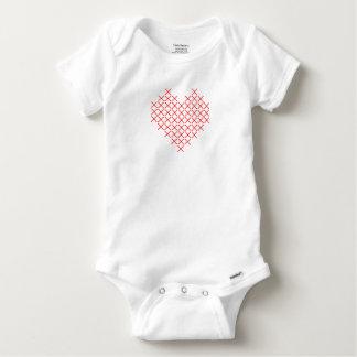 Body Para Bebé Corazón de la puntada de la Cruz Roja