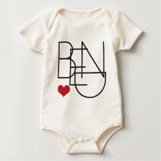 Body Para Bebé Corazón de Oregon de la curva