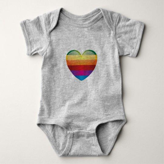 Body Para Bebé Corazón del arco iris