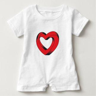 Body Para Bebé corazón imposible torcido