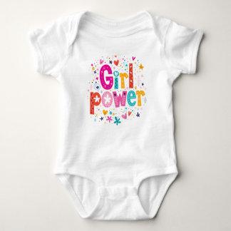 Body Para Bebé Corazón juguetón del poder del chica de los mini