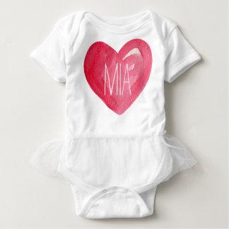 Body Para Bebé Corazón lindo del nombre del bebé del personalizar