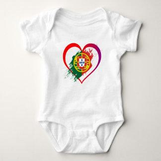 Body Para Bebé Corazón portugués