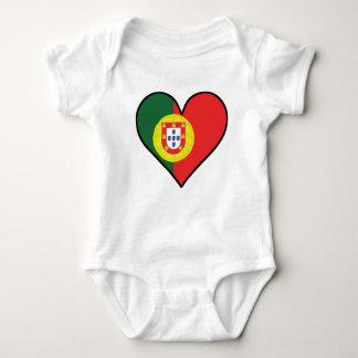 Body Para Bebé Corazón portugués de la bandera