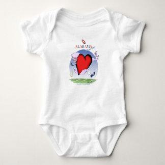 Body Para Bebé corazón principal de Alabama, fernandes tony