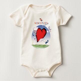 Body Para Bebé corazón principal de Wisconsin, fernandes tony