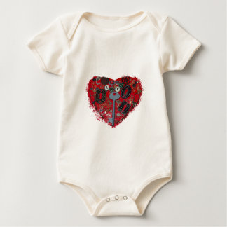 Body Para Bebé Corazón rojo Steampunk