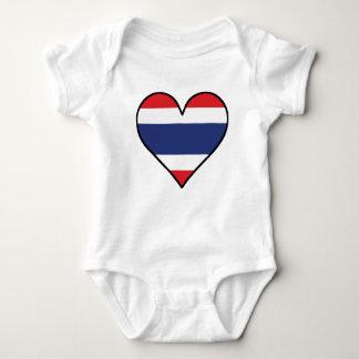 Body Para Bebé Corazón tailandés de la bandera