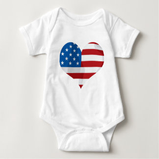 Body Para Bebé Corazones patrióticos del regalo