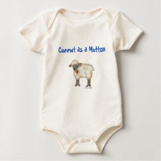 Body Para Bebé Correa eslabonada divertida del bebé de las ovejas