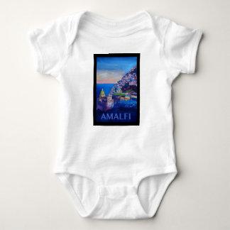 Body Para Bebé Costa retra Italia de Amalfi del poster
