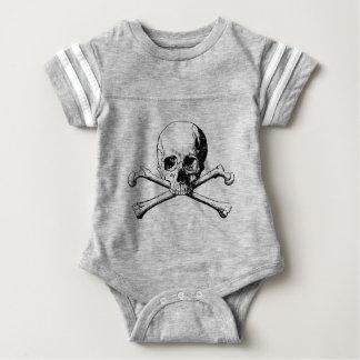 Body Para Bebé Cráneo de la bandera pirata