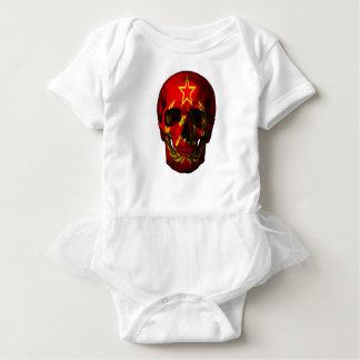 Body Para Bebé Cráneo ruso de la bandera