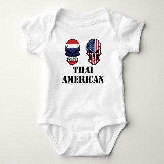 Body Para Bebé Cráneos tailandeses de la bandera americana