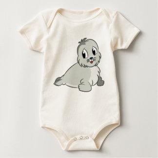 Body Para Bebé Cría de foca adorable del dibujo animado