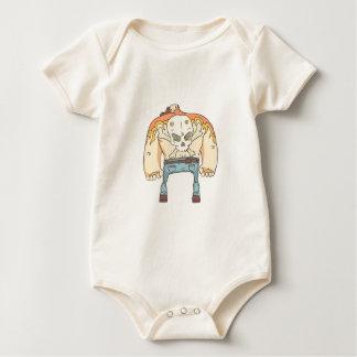 Body Para Bebé Criminales peligrosos fijados de estilo resumido