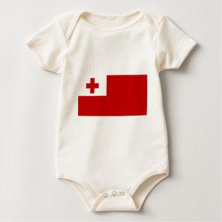 Body Para Bebé Cruz Roja de la bandera de la isla de Tonga