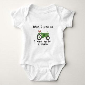 Body Para Bebé Cuando crezco, quiero ser granjero