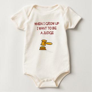 Body Para Bebé Cuando me crezco quiera ser un niño del juez