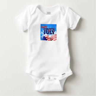 Body Para Bebé Cuarto del cielo del fondo de la bandera americana
