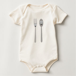 Body Para Bebé Cuchara y bifurcación Kawaii Zqdn9