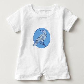 Body Para Bebé Cuervo que se encarama mirando la mono línea del