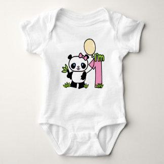Body Para Bebé Cumpleaños del chica de la panda primer